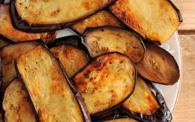 Aubergines frites au basilic