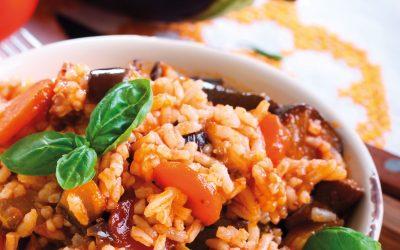 Aubergines au riz